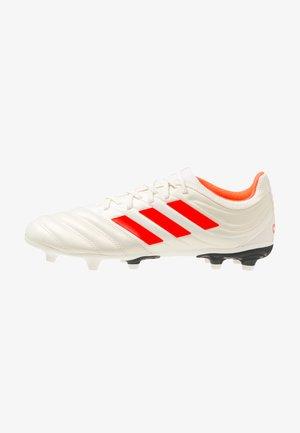 COPA 19.3 FG - Botas de fútbol con tacos - offwhite/solar red/core black