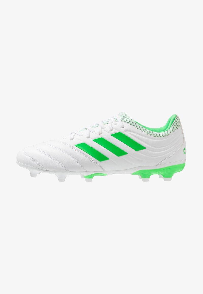 adidas Performance - COPA 19.3 FG - Fußballschuh Nocken - footwear white/solar lime