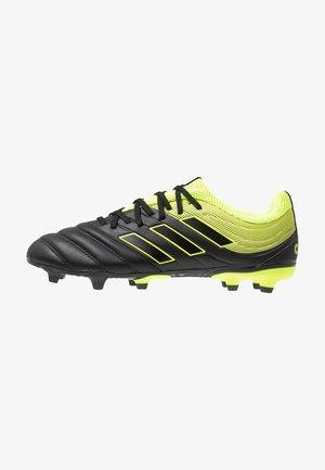 COPA 19.3 FG - Chaussures de foot à crampons - clear black/solar yellow