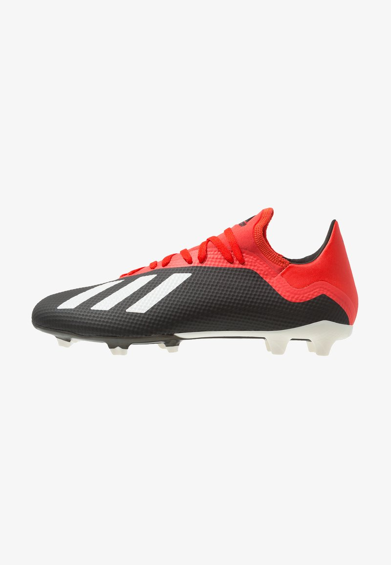 adidas Performance - X 18.3 FG - Moulded stud football boots - core black/offwhite/grey four