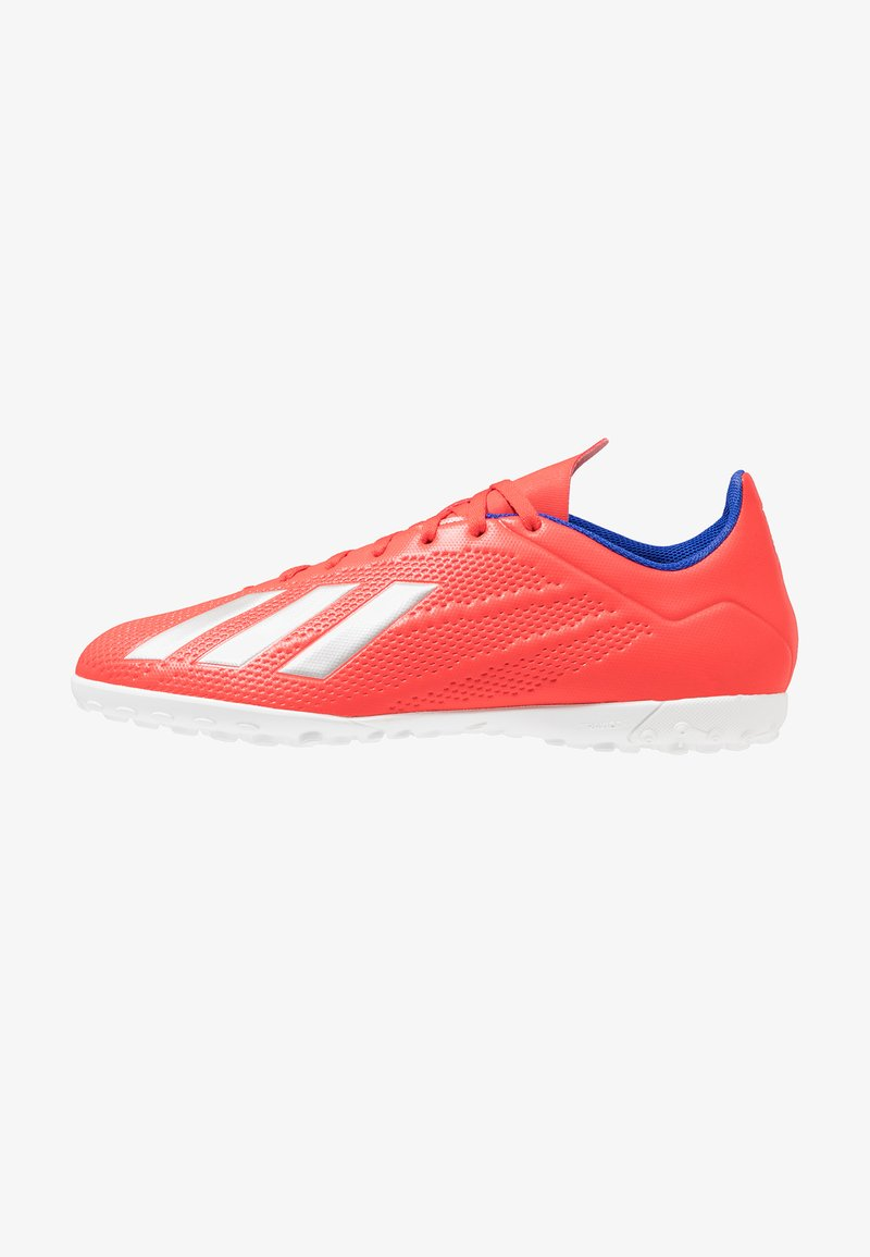 adidas Performance - X 18.4 TF - Astro turf trainers - active red/silver metallic/bold blue