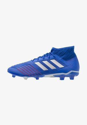 PREDATOR 19.2 FG - Voetbalschoenen met kunststof noppen - bold blue/silver metallic/football blue