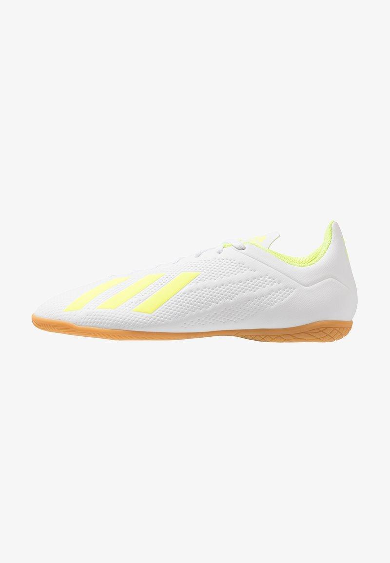 adidas Performance - X 18.4 IN - Fußballschuh Halle - footwear white/solar yellow