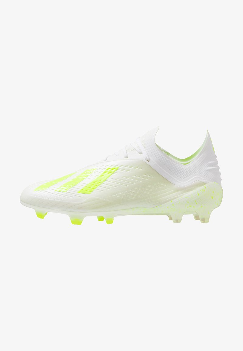 adidas Performance - X 18.1 FG - Fußballschuh Nocken - footwear white/solar yellow