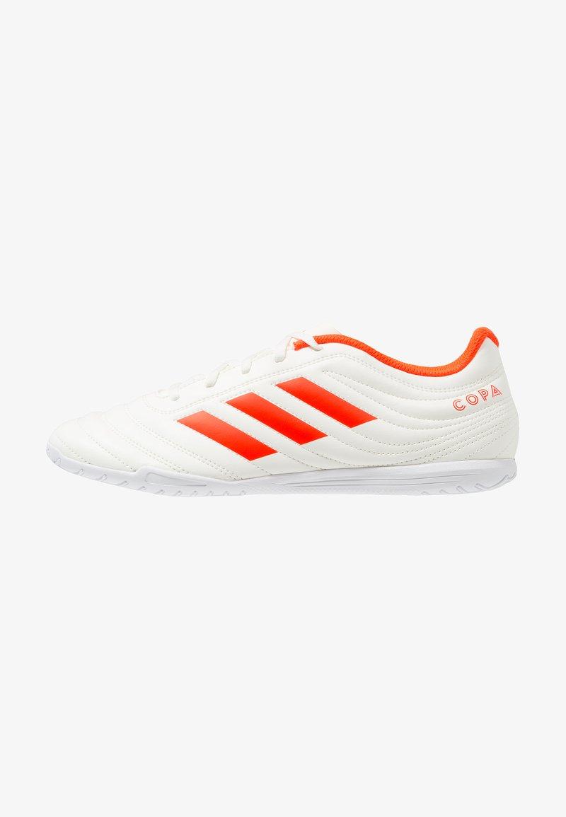 adidas Performance - COPA 19.4 IN - Fußballschuh Halle - offwhite/solar red