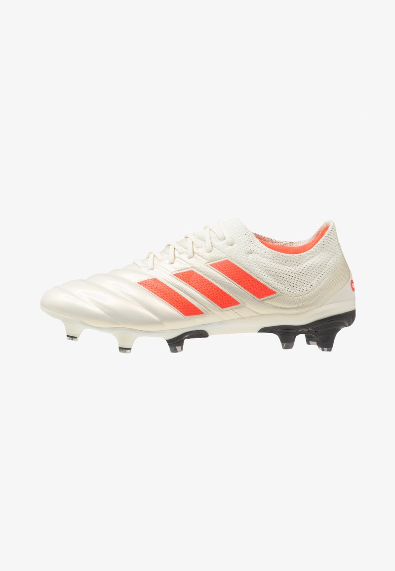 adidas Performance - COPA 19.1 FG - Voetbalschoenen met kunststof noppen - offwhite/solar red/core black