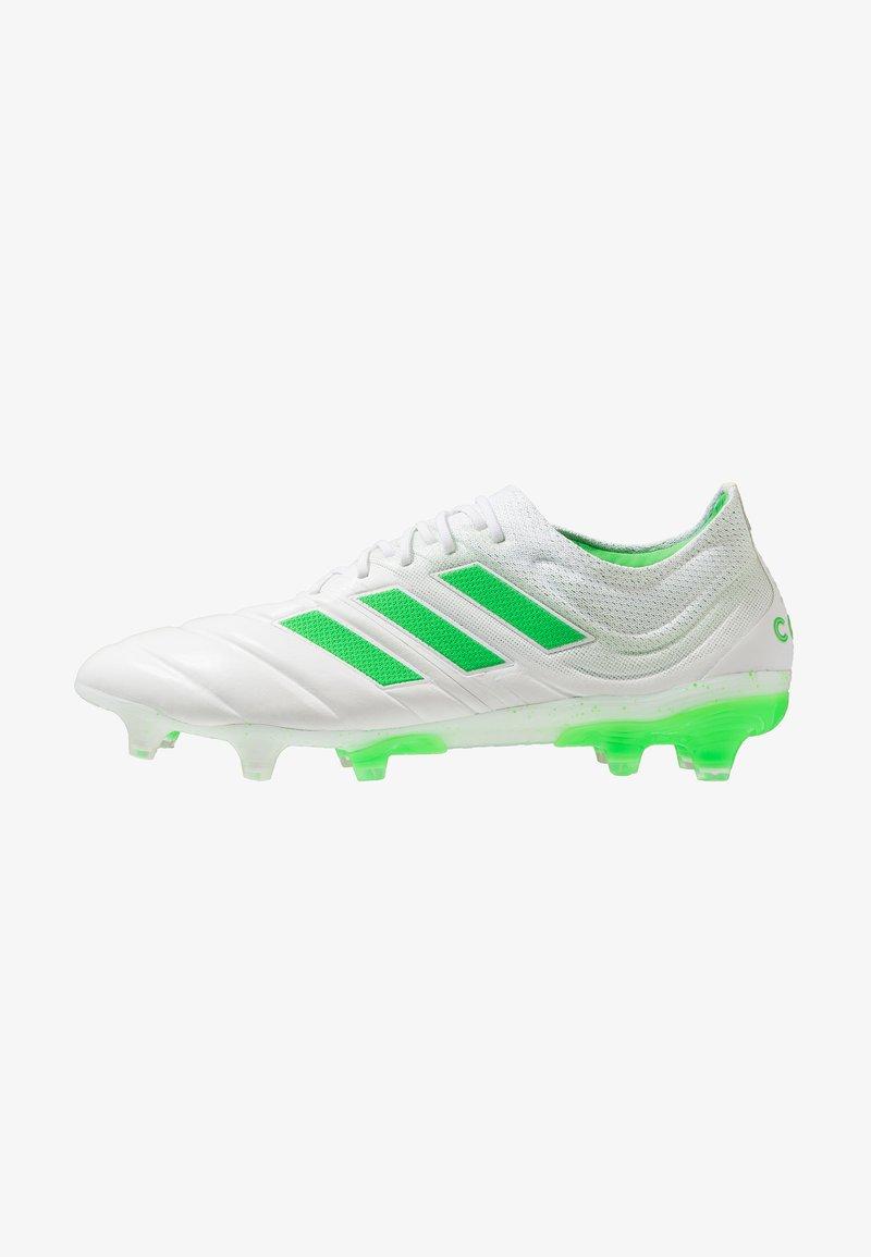 adidas Performance - COPA 19.1 FG - Fußballschuh Nocken - footwear white/shock lime