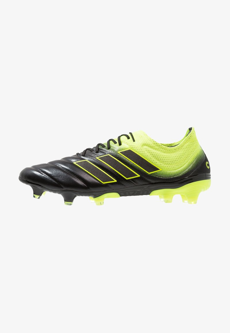 adidas Performance - COPA 19.1 FG - Moulded stud football boots - core black/solar yellow