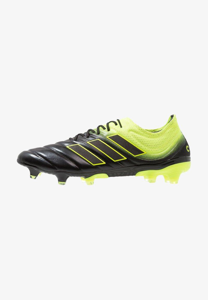 adidas Performance - COPA 19.1 FG - Fußballschuh Nocken - core black/solar yellow