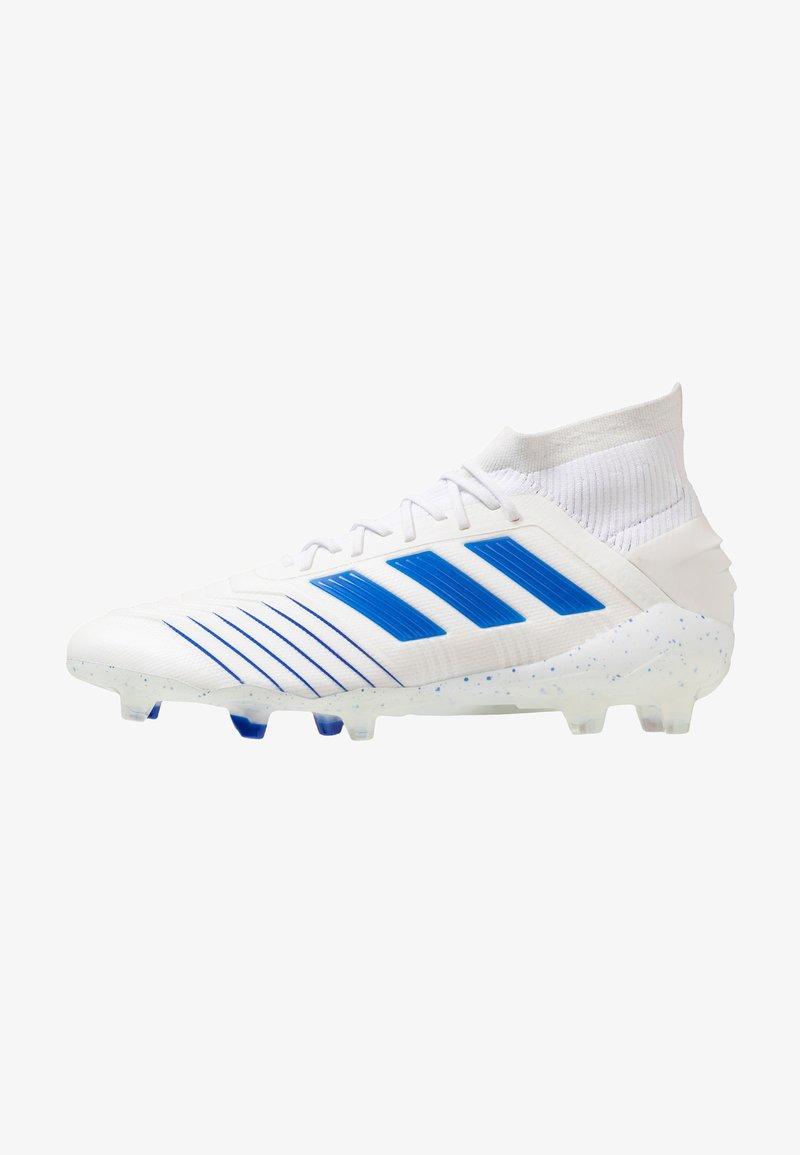 adidas Performance - PREDATOR 19.1 FG - Fußballschuh Nocken - footwear white/bold blue