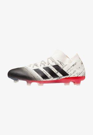 NEMEZIZ 18.1 FG - Chaussures de foot à crampons - offwhite/core black/active red