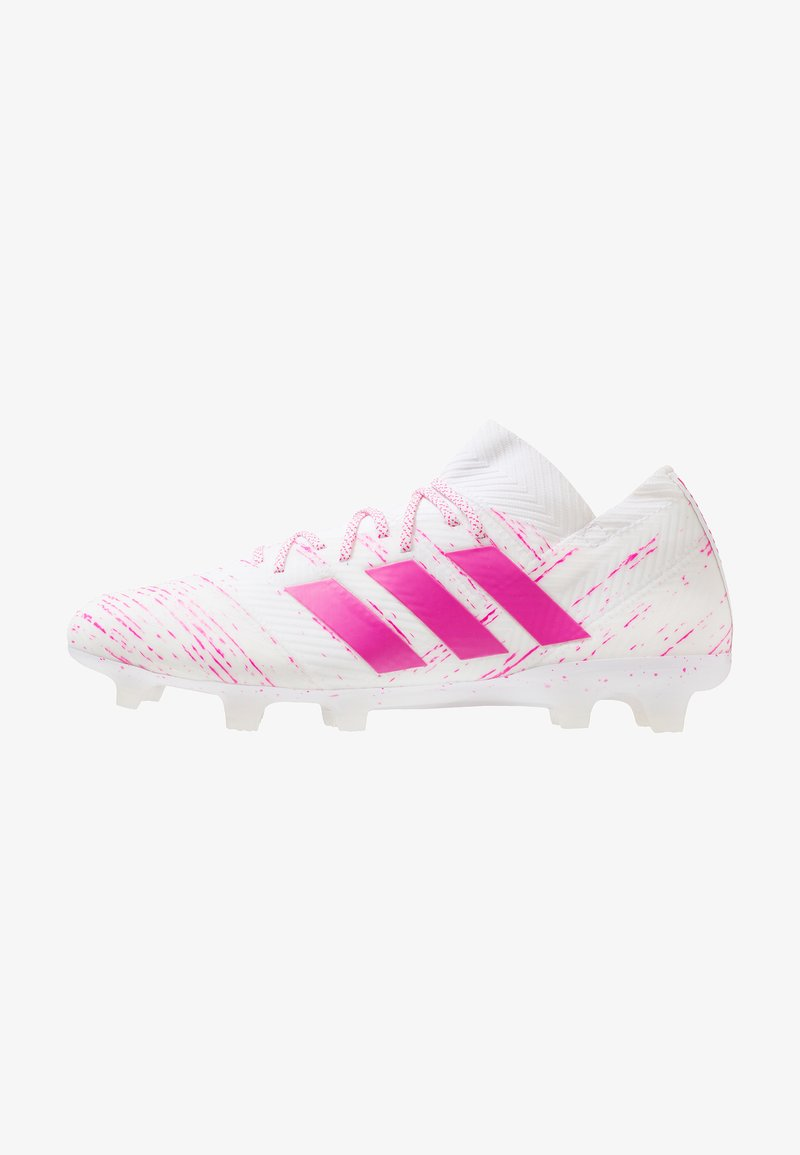adidas Performance - NEMEZIZ 18.1 FG - Moulded stud football boots - footwear white/shock pink