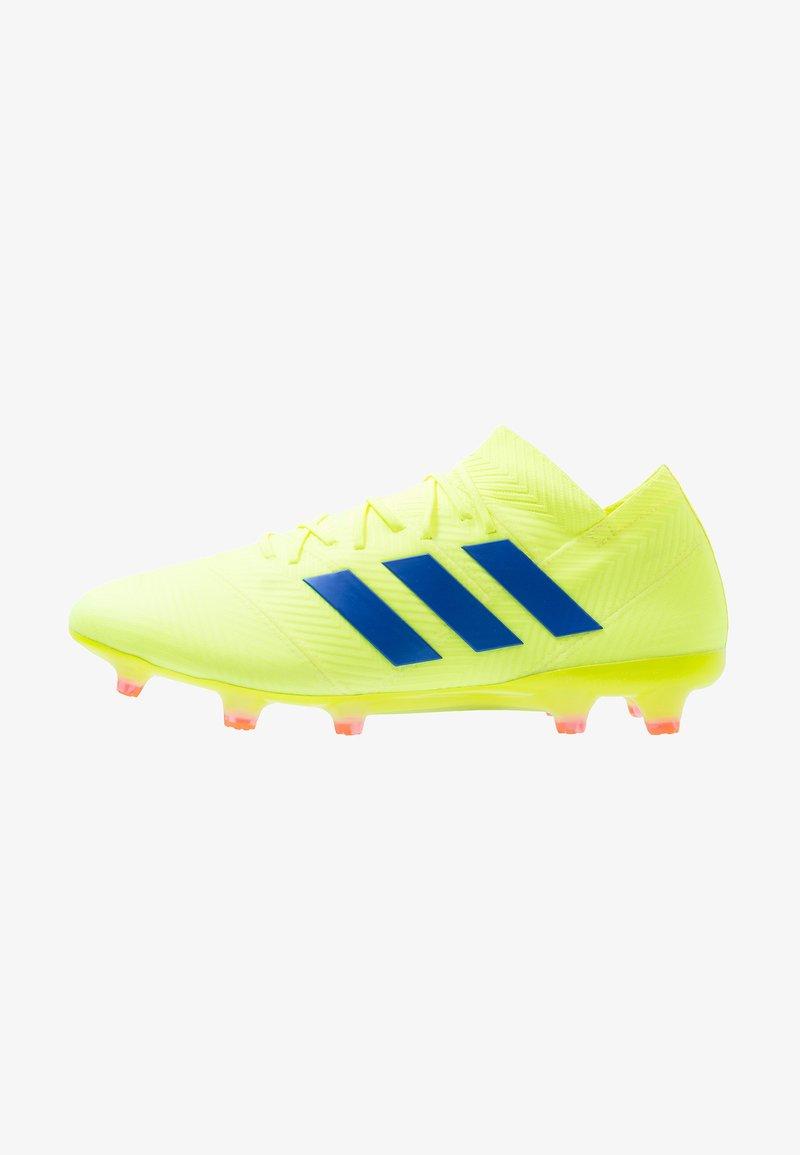 adidas Performance - NEMEZIZ 18.1 FG - Fußballschuh Nocken - solar yellow/football blue/avtive red