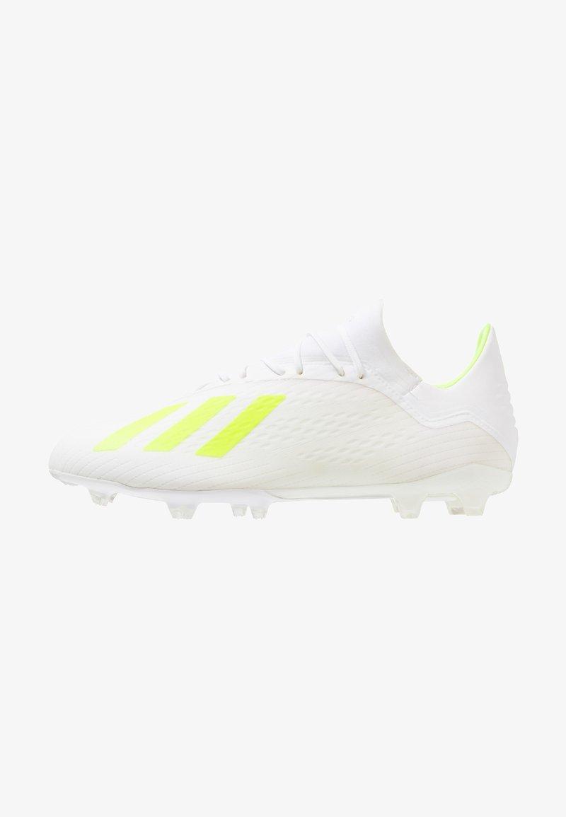 adidas Performance - X 18.2 FG - Fußballschuh Nocken - footwear white/solar yellow