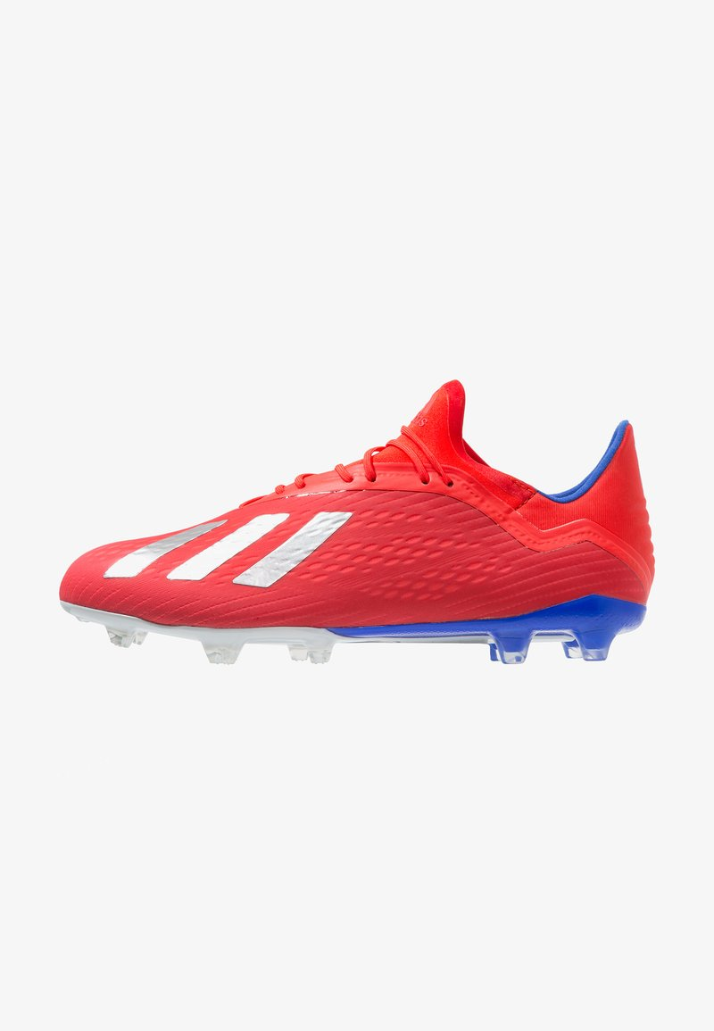 adidas Performance - X 18.2 FG - Moulded stud football boots - active red/silver metaillic/bold blue