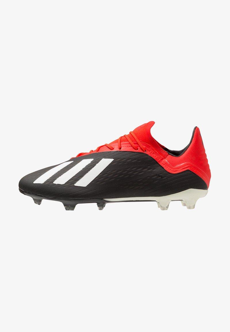 adidas Performance - X 18.2 FG - Fußballschuh Nocken - core black/offwhite/active red