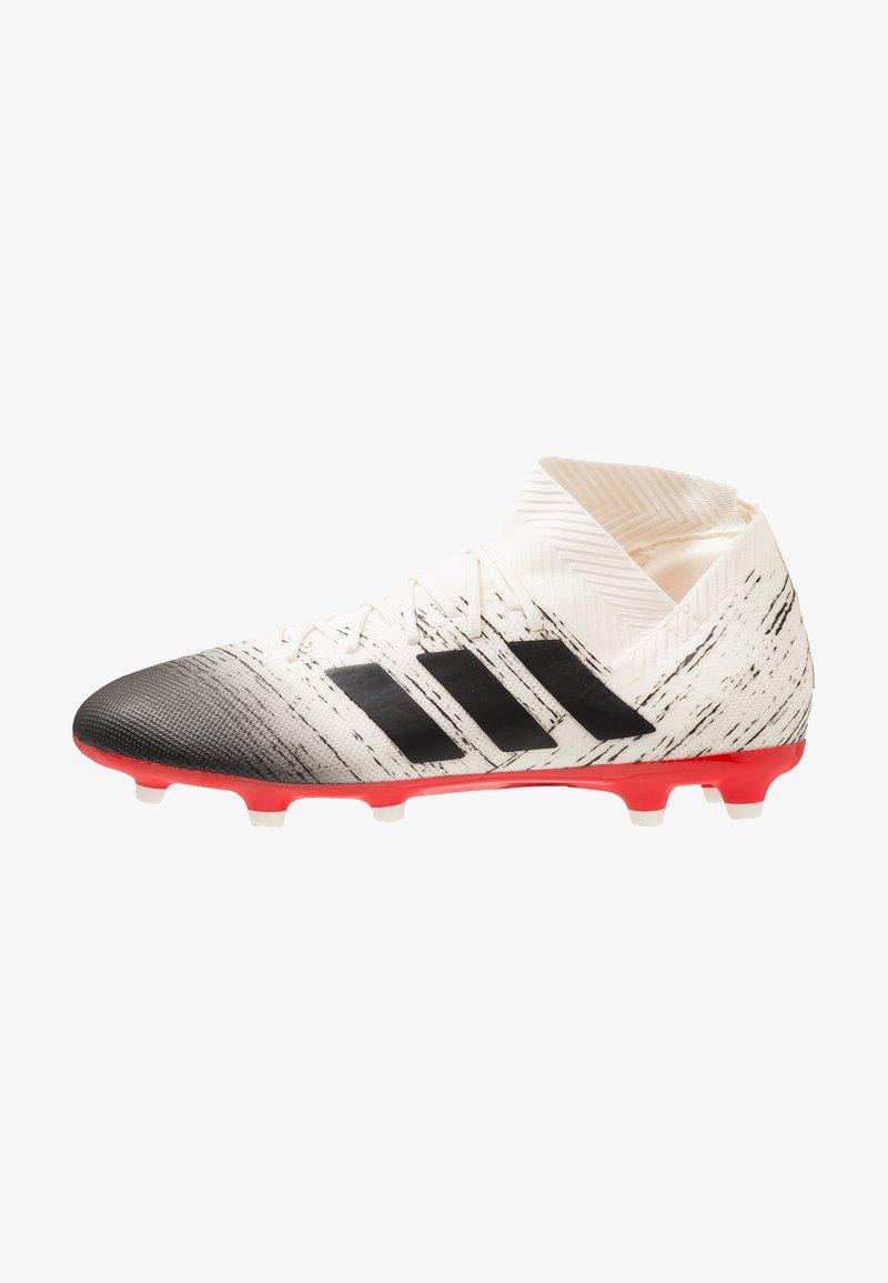 adidas Performance - NEMEZIZ 18.3 FG - Fußballschuh Nocken - offwhite/core black/active red