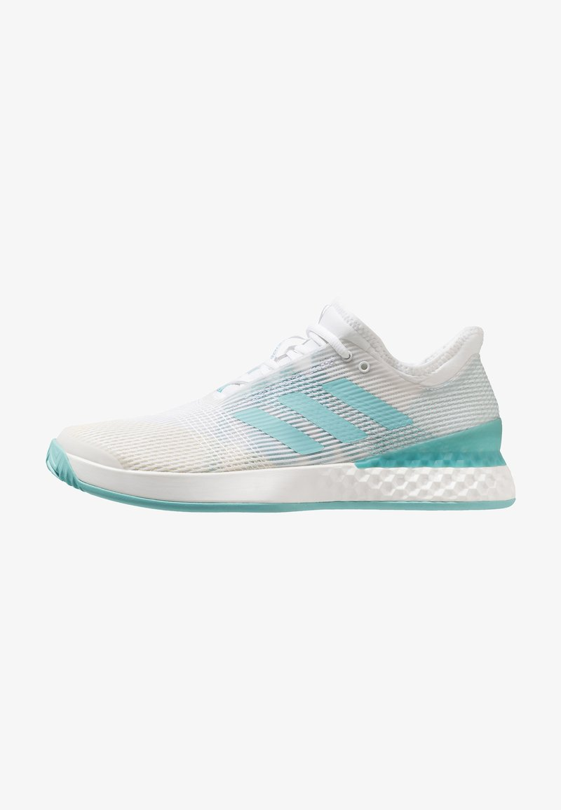adidas Performance - ADIZERO UBERSONIC 3M X PARLEY - Tennisschuh für Sandplätze - footwear white/blue spirit