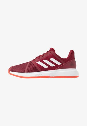 COURTJAM BOUNCE CLAY - Tennisskor för grus - collegiate burgundy/footwear white/active orange