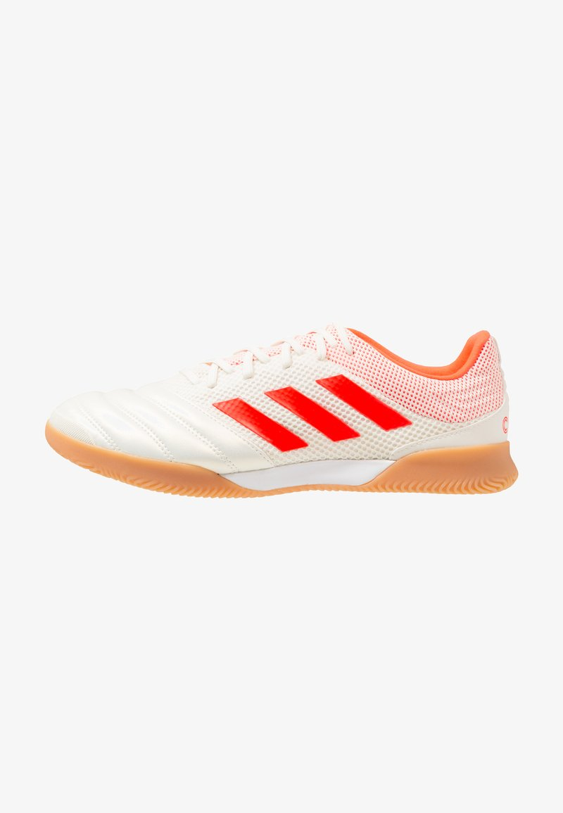 adidas Performance - COPA 19.3 IN SALA - Fußballschuh Halle - offwhite/solar red