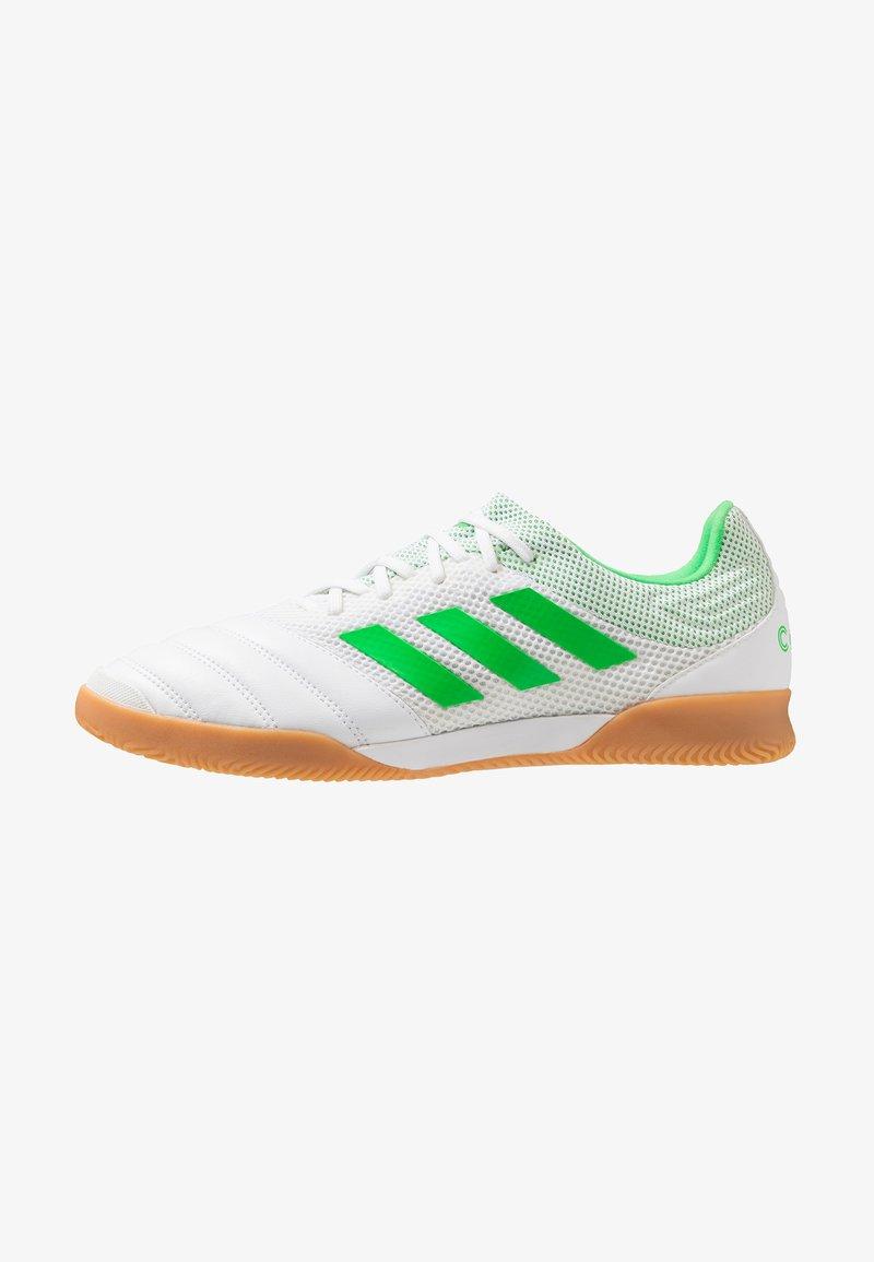adidas Performance - COPA 19.3 IN SALA - Scarpe da calcetto - footwear white/solar lime