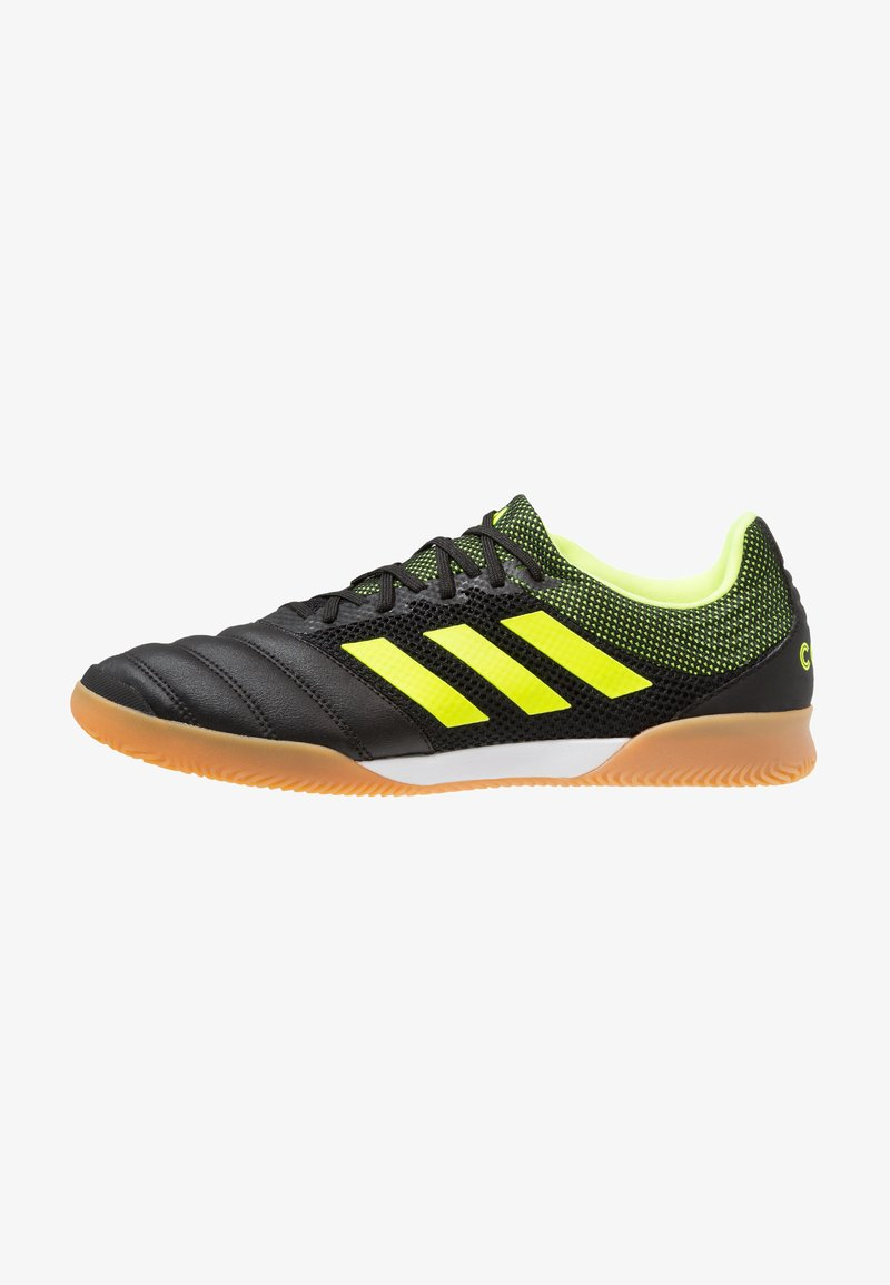 adidas Performance - COPA 19.3 IN SALA - Fußballschuh Halle - core black/solar yellow