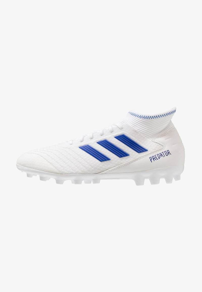 adidas Performance - PREDATOR 19.3 AG - Moulded stud football boots - footwear white/bold blue