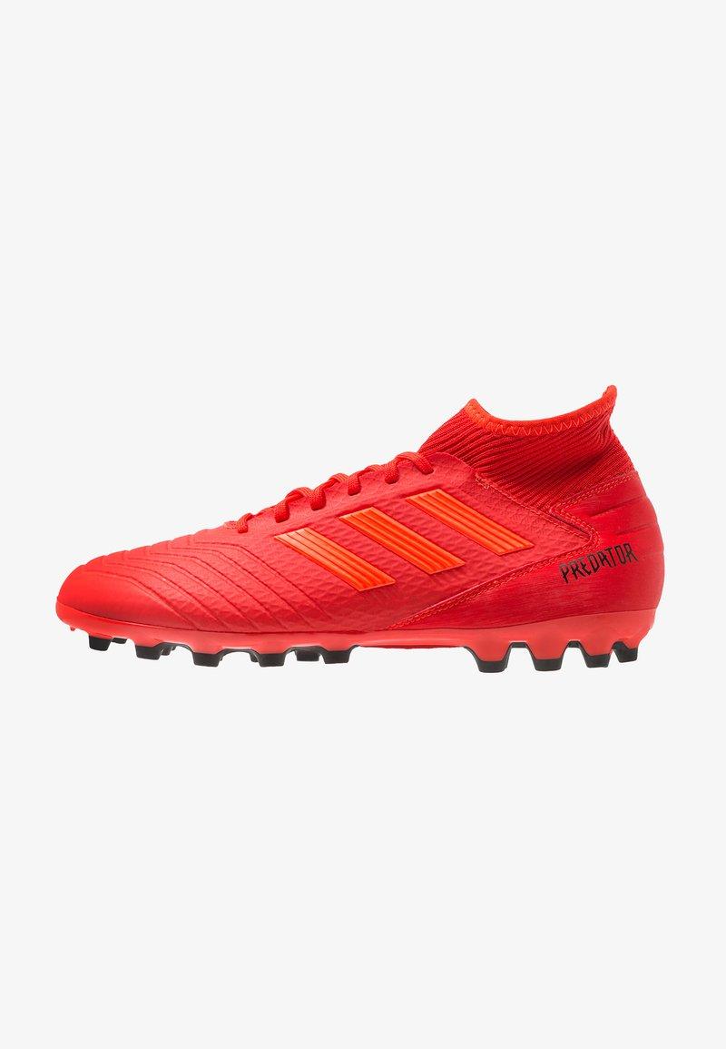 adidas Performance - PREDATOR 19.3 AG - Botas de fútbol con tacos - active red/solar red/core black