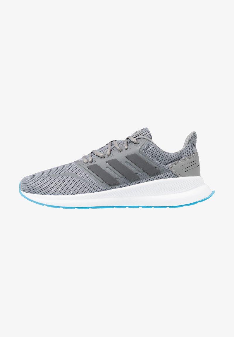 adidas Performance - RUNFALCON - Zapatillas de running neutras - grey three/grey six/shock cyan