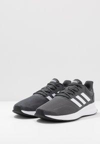 adidas Performance - RUNFALCON - Neutral running shoes - grey six/footwear white/core black - 2