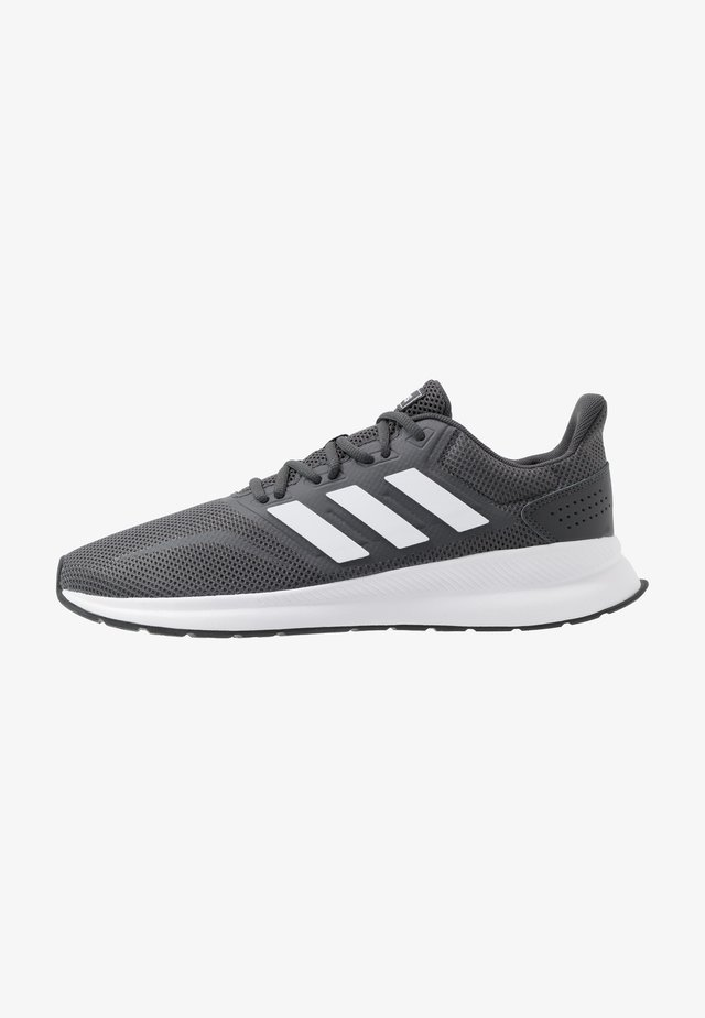RUNFALCON - Neutral running shoes - grey six/footwear white/core black