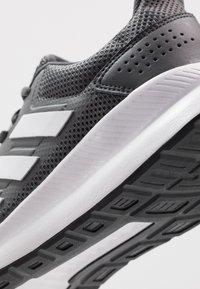 adidas Performance - RUNFALCON - Neutral running shoes - grey six/footwear white/core black - 5