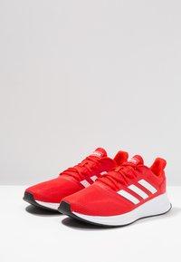 adidas Performance - RUNFALCON - Zapatillas de running neutras - active red/footwear white/core black - 2