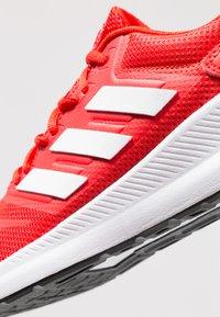 adidas Performance - RUNFALCON - Zapatillas de running neutras - active red/footwear white/core black - 5