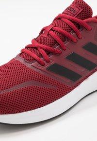 adidas Performance - RUNFALCON - Obuwie do biegania treningowe - active maroon/core black/maroon - 5