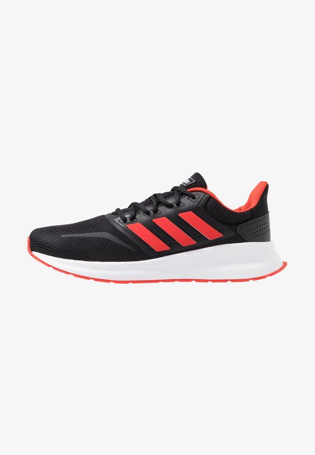RUNFALCON - Neutral running shoes - core black/active red/core black