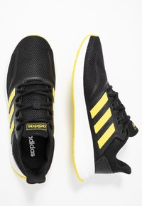 adidas Performance - RUNFALCON - Hardloopschoenen neutraal - core black/shock yellow/footwear white - 1