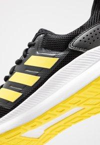 adidas Performance - RUNFALCON - Hardloopschoenen neutraal - core black/shock yellow/footwear white - 5