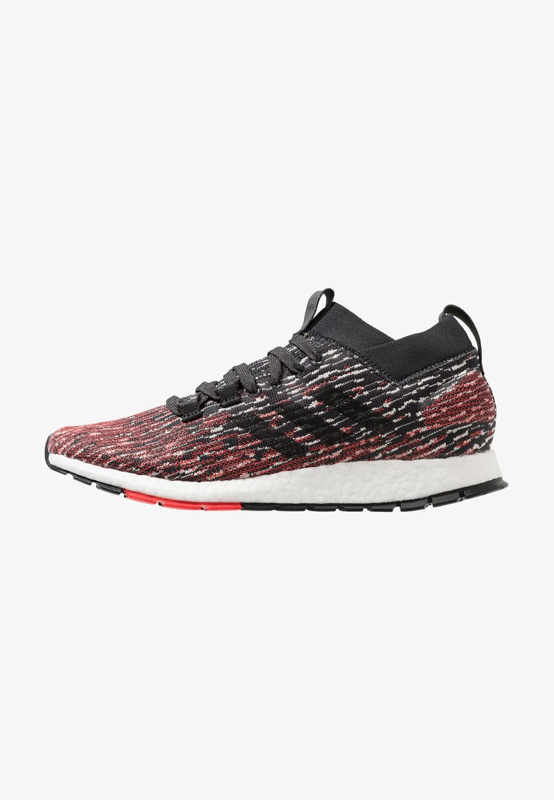 adidas Performance - PUREBOOST RBL - Laufschuh Neutral - carbon/core black/active red