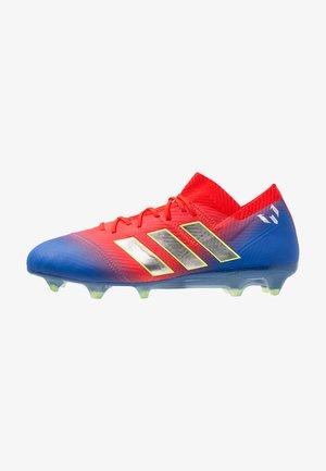 NEMEZIZ MESSI 18.1 FG - Chaussures de foot à crampons - active red/silver metallic/football blue