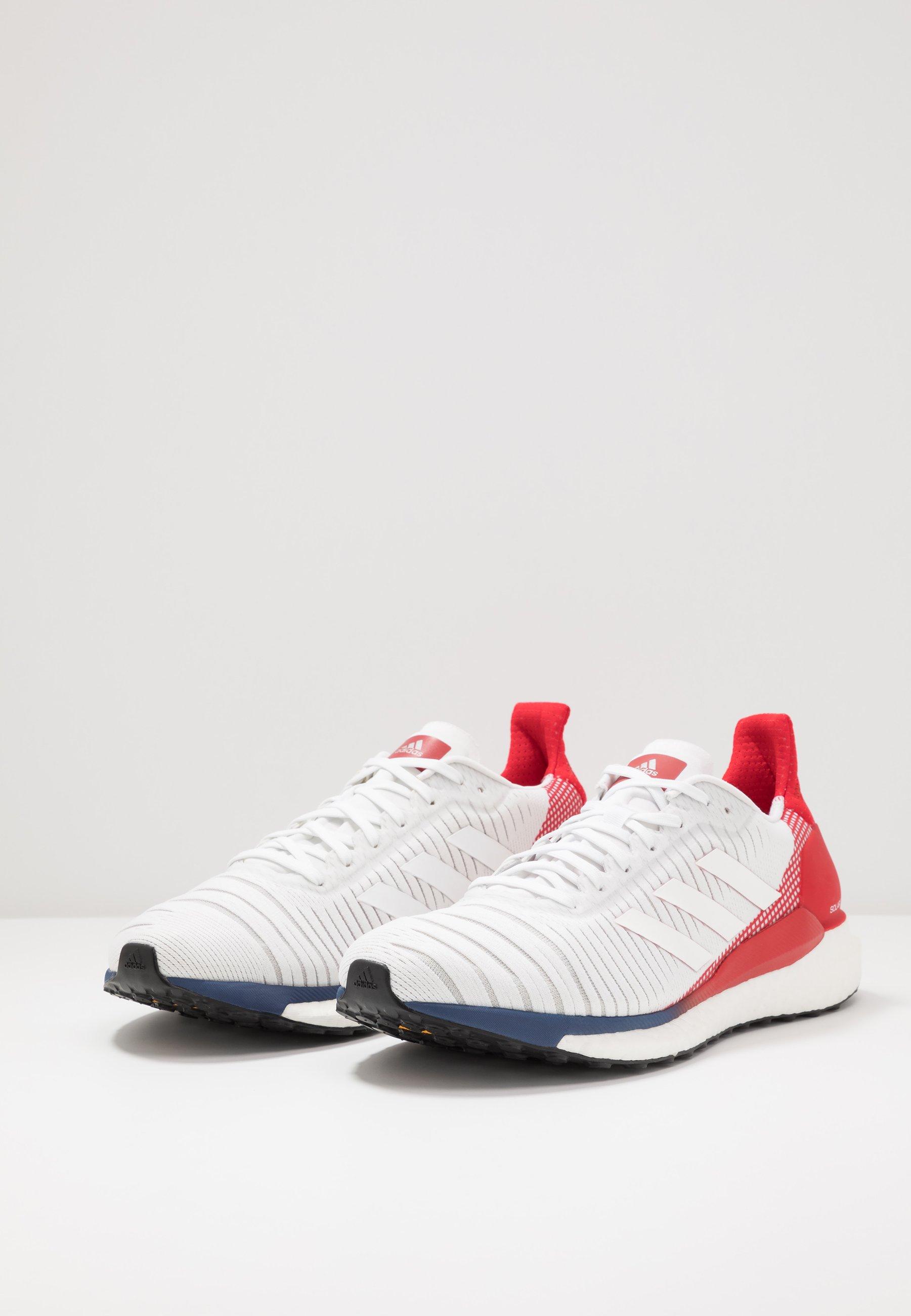 adidas Performance SOLAR GLIDE 19 - Zapatillas de running neutras - footwear white/scarlet