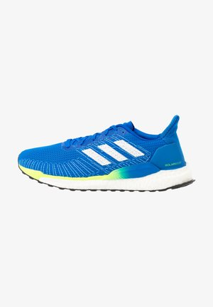 SOLAR BOOST 19 - Zapatillas de running neutras - glow blue/footwear white/signal green