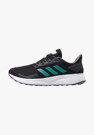 DURAMO 9 - Zapatillas de running neutras - core black/active green/grey four