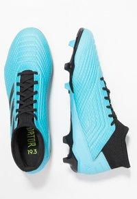 adidas Performance - PREDATOR 19.3 FG - Voetbalschoenen met kunststof noppen - bright cyan/core black/solar yellow - 1