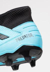 adidas Performance - PREDATOR 19.3 FG - Voetbalschoenen met kunststof noppen - bright cyan/core black/solar yellow - 5
