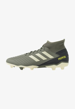 PREDATOR 19.3 FG - Fotbollsskor fasta dobbar - legend green/sand/solar yellow
