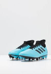 adidas Performance - PREDATOR 19.3 SG - Chaussures de foot à lamelles - bright cyan/core black/solar yellow - 2