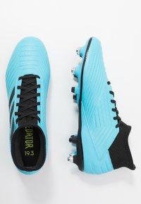 adidas Performance - PREDATOR 19.3 SG - Chaussures de foot à lamelles - bright cyan/core black/solar yellow - 1