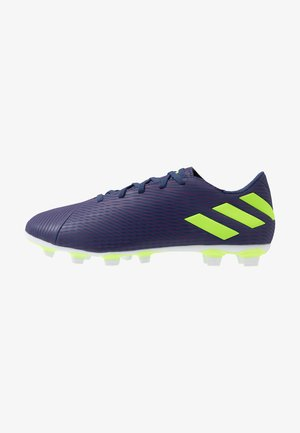 NEMEZIZ MESSI 19.4 FXG - Chaussures de foot à crampons - tech indigo/signal green/glow purple