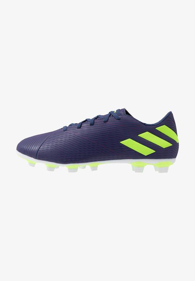 NEMEZIZ MESSI 19.4 FXG - Botas de fútbol con tacos - tech indigo/signal green/glow purple
